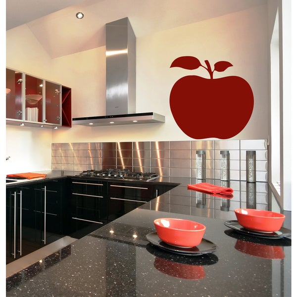 Shop Beautiful apple Wall Art Sticker Decal Red - Free Shipping On ...
