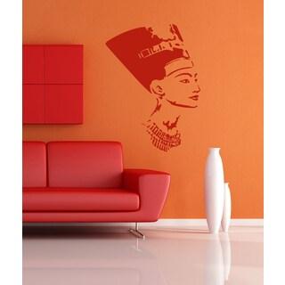 Nefertiti Egypt Girl woman beauty Wall Art Sticker Decal Red
