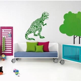 Angry dinosaur Wall Art Sticker Decal Green