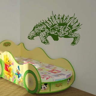 Dinosaur hunting Wall Art Sticker Decal Green