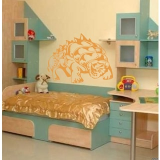 Dinosaur in the shell Wall Art Sticker Decal Orange