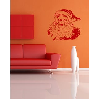 Santa Claus says Wall Art Sticker Decal Red