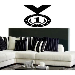 Medal 1 place Victory Wall Art Sticker Decal