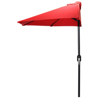 Jordan Manufacturing Red 9-foot Half Umbrella