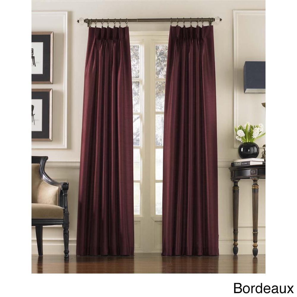 CHF Marquee Faux Silk Pinch Pleat Curtain Panel (Bordeaux...