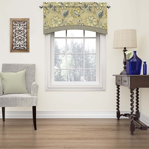 Waverly Brighton Blossom Arched Window Valance - 52x18