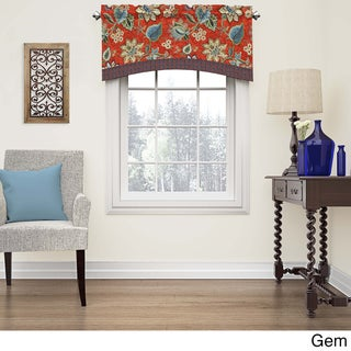 Waverly Brighton Blossom Arched Cotton Window Valance (2 options available)