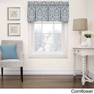 Wavelry Donnington Cotton Damask Box Pleat Window Valance