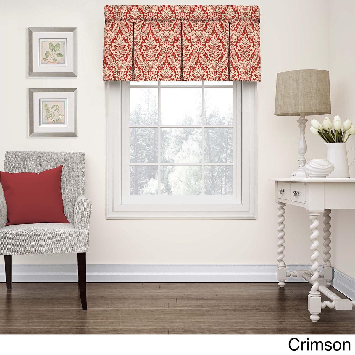 Waverly Donnington Box Pleat Window Valance 52x18