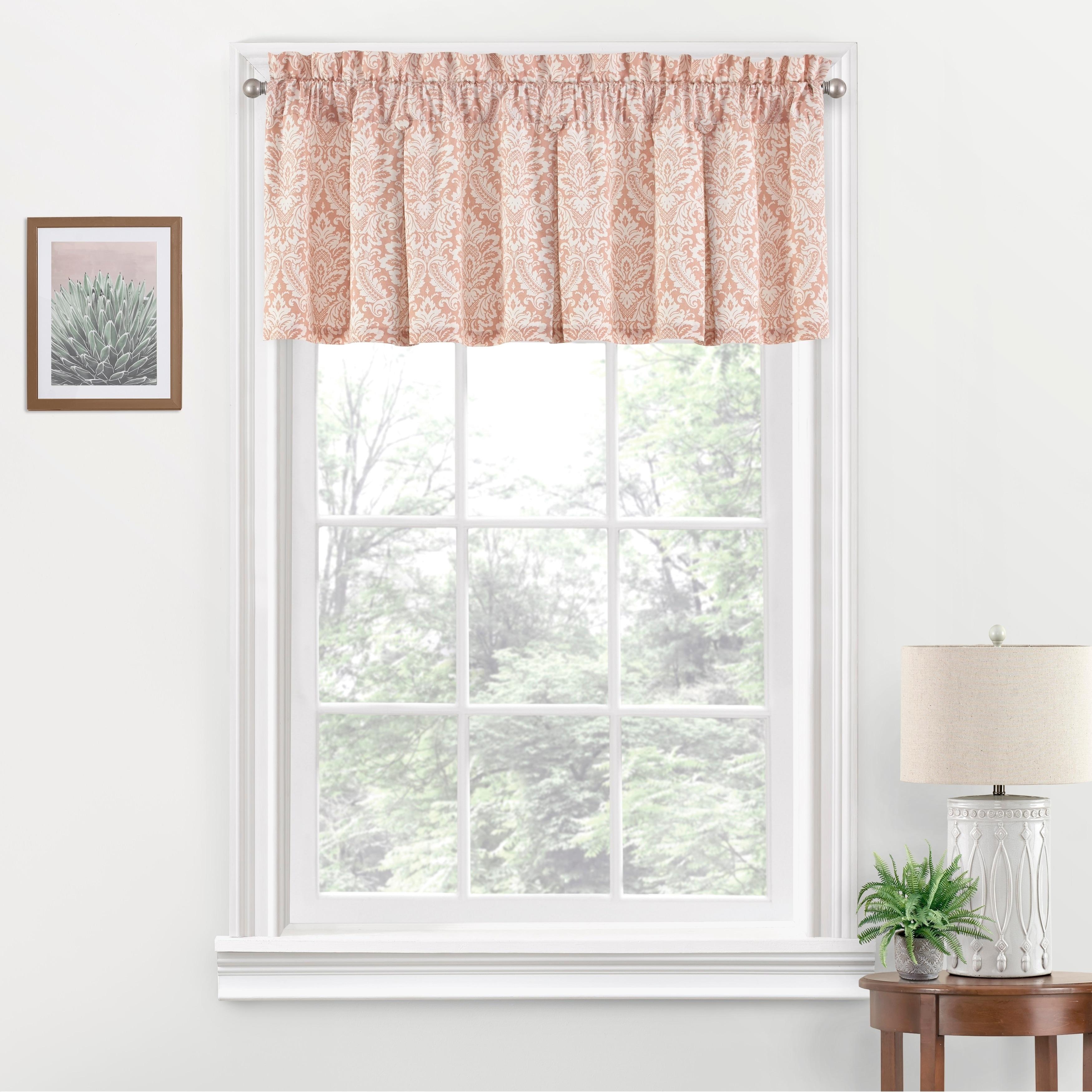 Shop Waverly Donnington Box Pleat Window Valance 52x18 Overstock 11762781