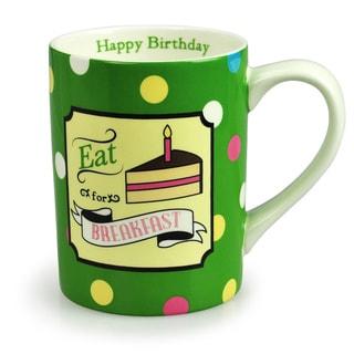 Kityu Gift Eat Cake for Breakfast Ceramic 16-ounce Mug