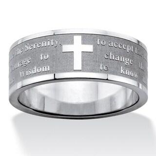 Stainless Steel Men's Serenity Prayer Inscription Ring