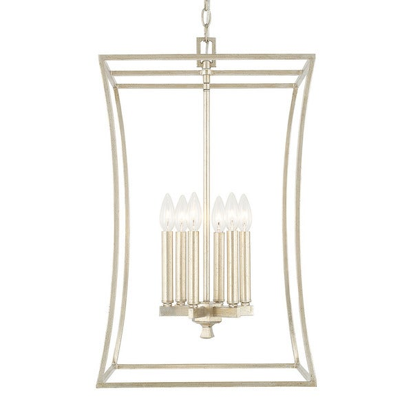 Capital Lighting Westbrook Collection 6-light Winter Gold Foyer Fixture