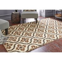 Mohawk Home Huxley Augustine Tile Dark Earth - 8' x 10'