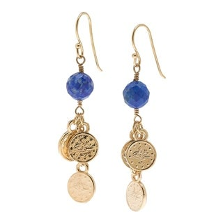 18k Gold Overlay Turkish Coin Earrings