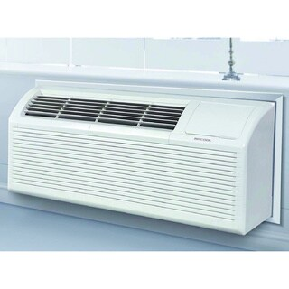 MRCOOL 12,000 BTU Packaged Terminal Air Conditioning PTAC + 3.5 kW Electrical Heater 10.7 EER, 230V - White