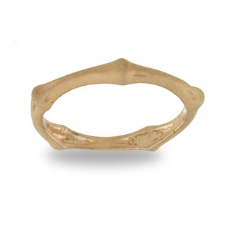 Rose Goldplated Sterling Silver Bamboo Ring
