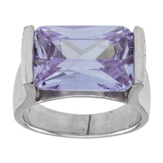 Sterling Silver Lavender Cubic Zirconia Ring