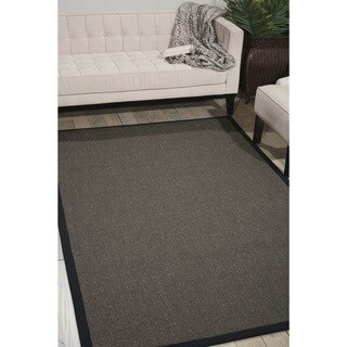 Michael Amini Brilliance Charcoal Area Rug by Nourison (4' x 6')