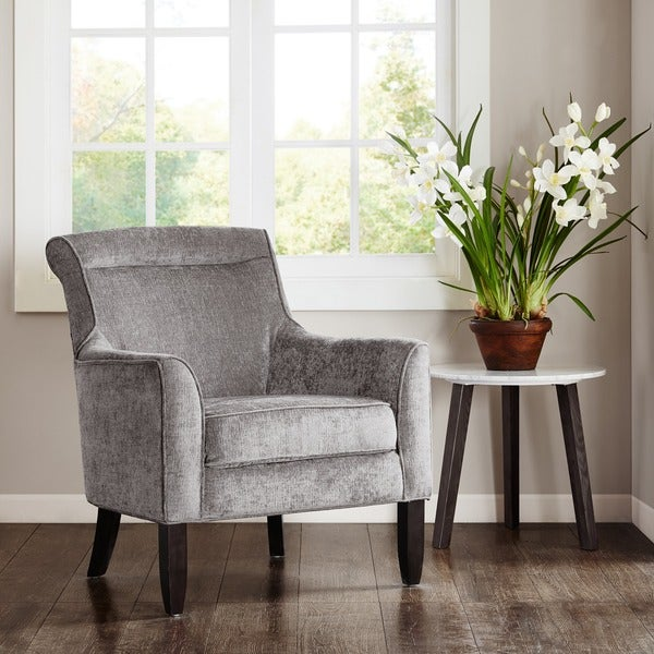Shop Madison Park Serena Grey Bustle Back Accent Chair