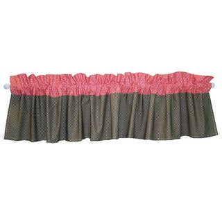 Trend Lab Nursery Cocoa and Coral 82-inch Window Curtain Valance