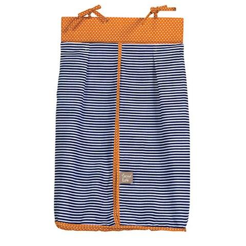 Trend Lab Baby Blue Stripe and Orange Dot Diaper Stacker