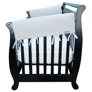 Trend Lab Grey Fleece Crib Wrap Wide Rail Cover for Crib Sides