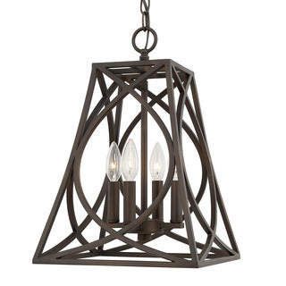 Capital Lighting Traditional 4-light Old Bronze Foyer Fixture