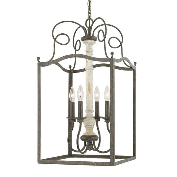 4 Light French Country Foyer Fixture