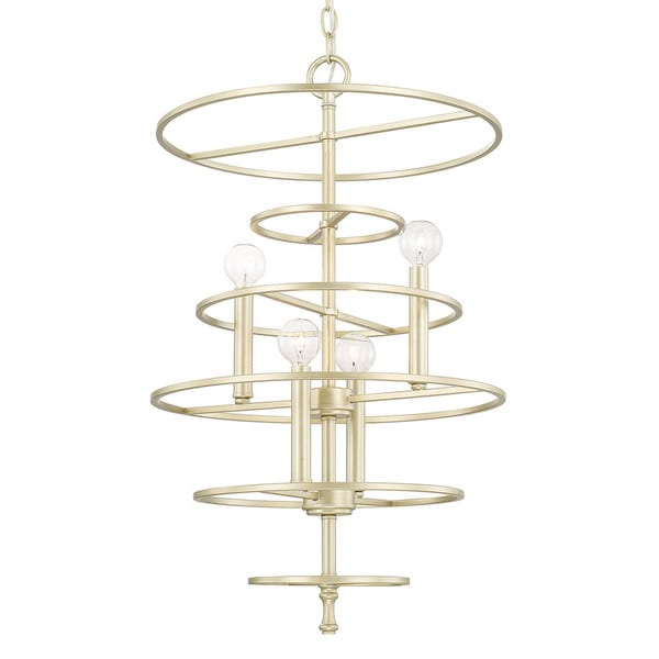 Capital Lighting Aurora Collection 4-light Soft Gold Foyer Fixture