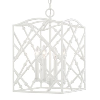 Capital Lighting Traditional 4-light Glossy White Foyer Fixture