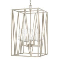 Capital Lighting Arden Collection 4-light Brushed Silver Foyer Fixture