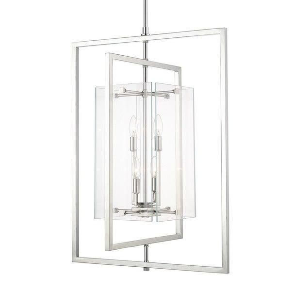 Foyer Lighting Overstock : Capital lighting modern light polished nickel foyer