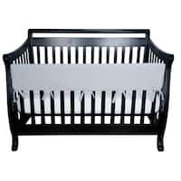 Trend Lab Grey Fleece Crib Wrap Wide Rail Cover for Crib Front and Back