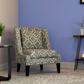 Madison Park Kyerin Grey Swoop Arm Chair