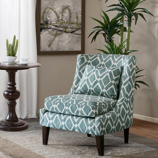 Madison Park Kyerin Blue Swoop Arm Chair