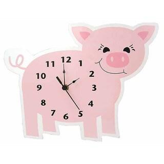 Trend Lab Home Decorative Barnyard Piglet Wall Clock