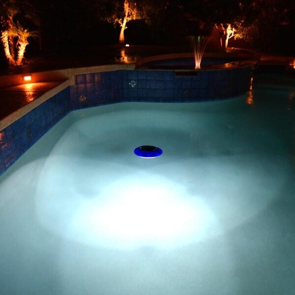Shop Evolution Floating Led Solar Pool Light Blue Overstock 11763286