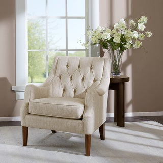 Madison Park Elle Cream Button Tufted Chair