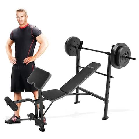 Competitor 80-pound Weight Set and Bench