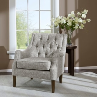 Madison Park Elle Grey Button Tufted Chair