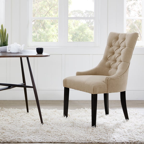 Madison Park Fenton Cream Tufted Back Dining Chair 2 Piece Set
