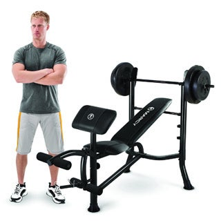 Marcy Standard Bench and 80-Pound Weight Set