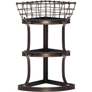Gourmet Basics by Mikasa Cubby Corner 4-mug Tree With Basket