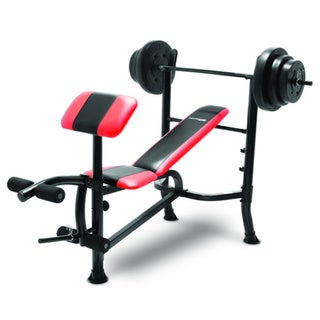 Competitior Pro Standard Weight Bench and 100 Pound Weight Set