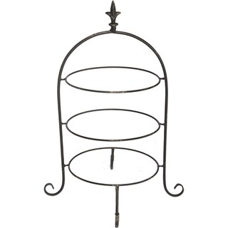 16.5-inch x 15-inch x 24-inch Tiered Plate Rack