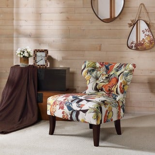 "Madison Park Bree Multi Hourglass Tufted Armless Chair - 29""W x 32.25""D x 31""H"