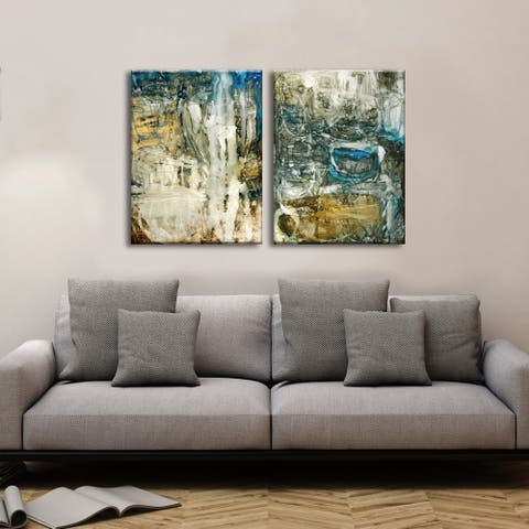 Ready2HangArt 'Canyon Falls I/II' by Norman Wyatt Jr. 2-piece Wrapped Canvas Set