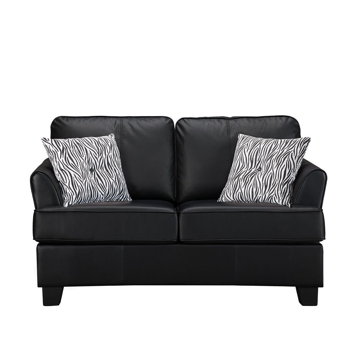 Black Faux Leather Twin Sleeper Sofa