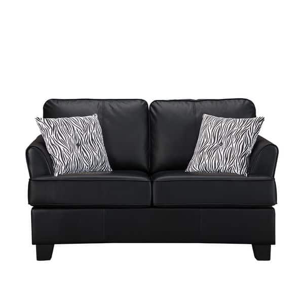 Phenomenal Kb Modern Black Faux Leather Twin Sleeper Sofa Cjindustries Chair Design For Home Cjindustriesco